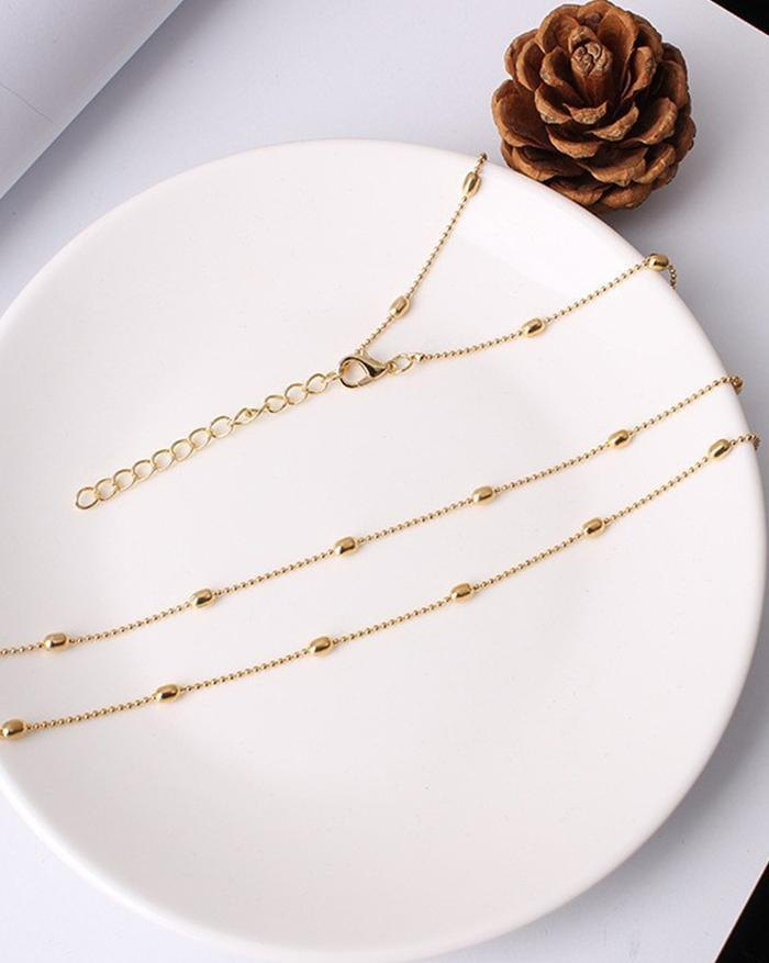 Metal Bead Simple Waist Chain Belt - Silver ONE SIZE