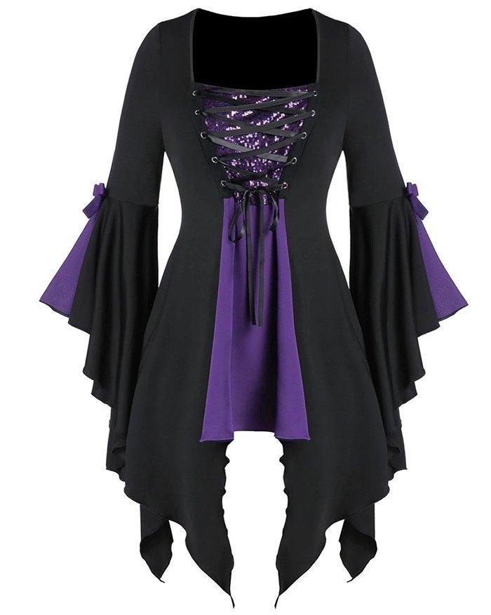 Robe courte gothique punk vintage Harajuku - Violet S