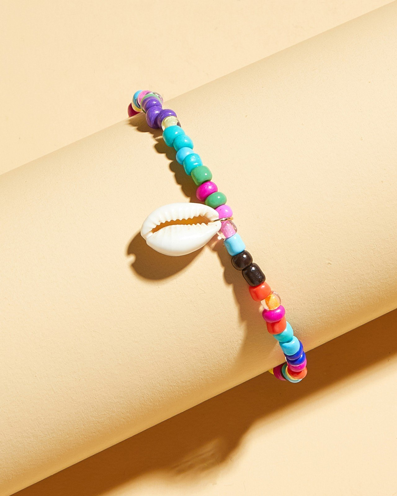 Colorful Beads Shell Anklet - Mixcolor ONE SIZE