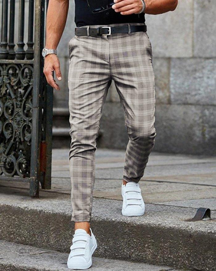 Pantalon long skinny décontracté pour homme - Gris S