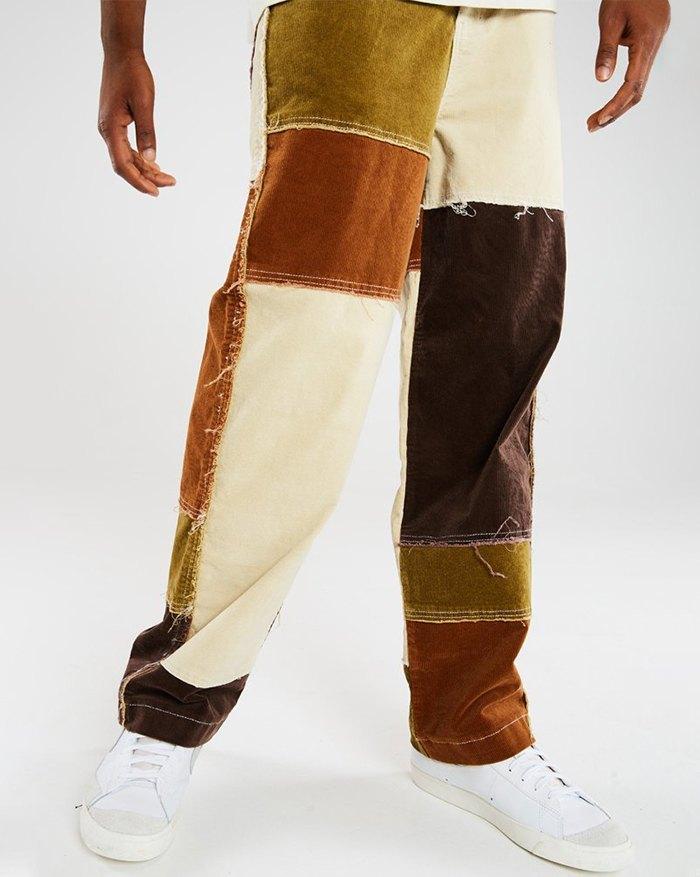 Pantalon à blocs de couleurs pour hommes - Couleurs multicolorples S