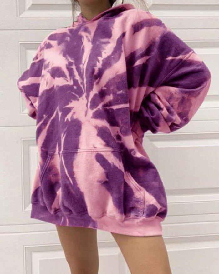 Tie Dye Oversized Sweatshirt -