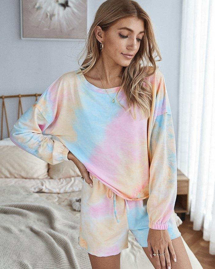 Tie-dye Homewear Two-Piece Outfit -