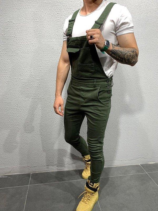 Men's Slim Overall Jeans -