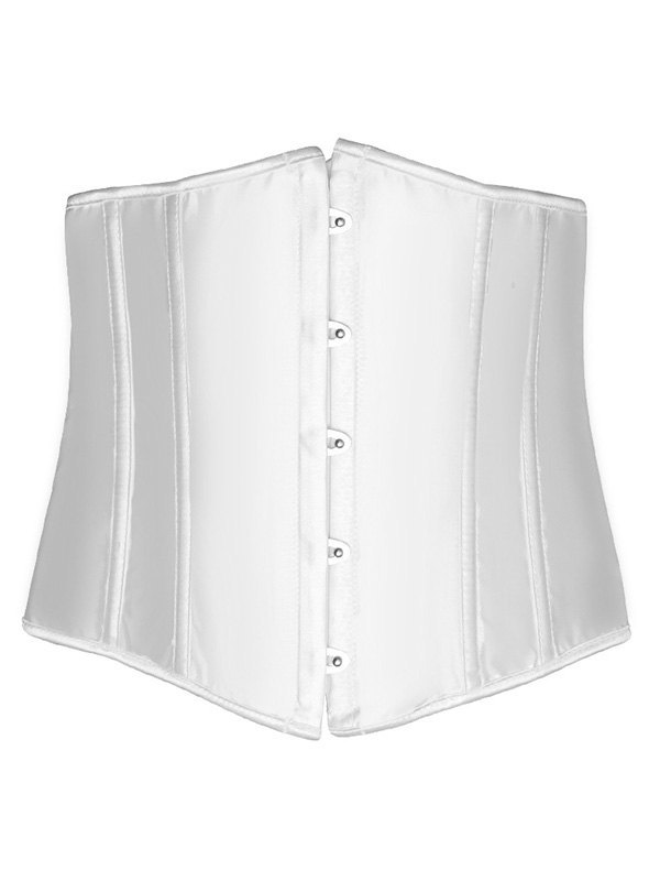 Solid Color Corset Bustier - White S