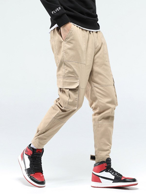 Men's Pocket Casual Cargo Pants - Khaki M