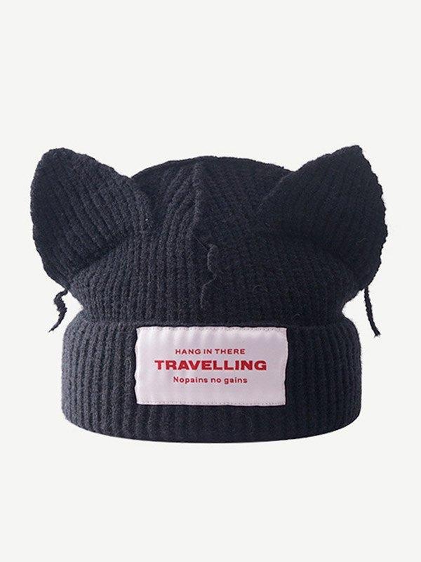 Cappello a cuffia con orecchio carino con logo -  ONE SIZE