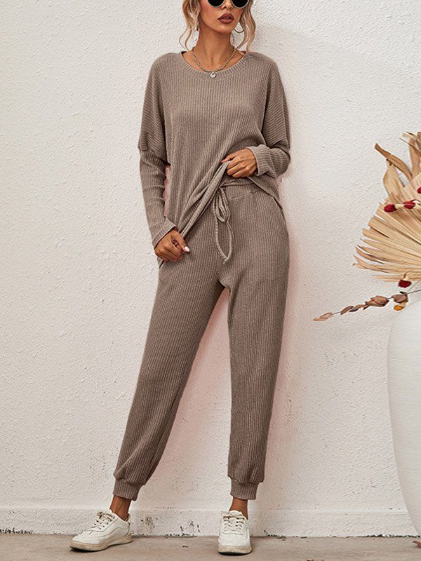 Knitted Homewear Lounge Set - Coffee XL