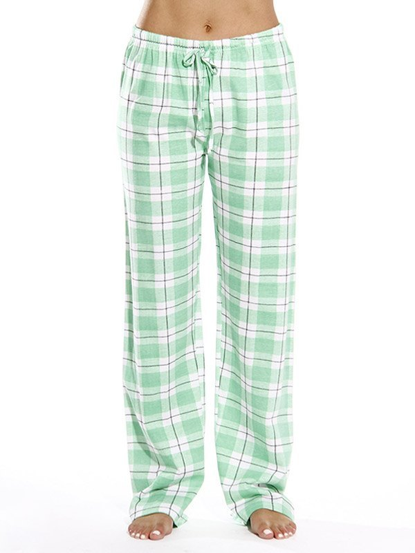 Classic Checked Lounge Pants - Green 2XL