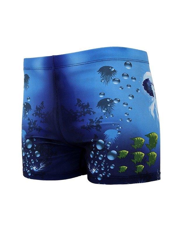 Short de bain à séchage rapide Ocean World pour homme - Bleu L