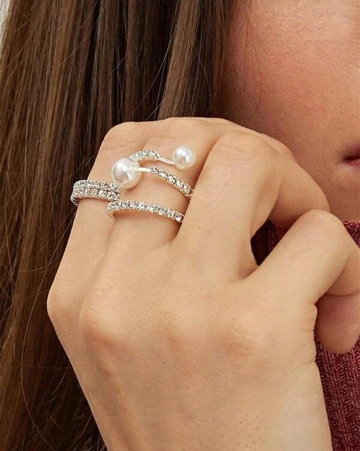 Bague en diamant 4 pièces - Argent ONE SIZE