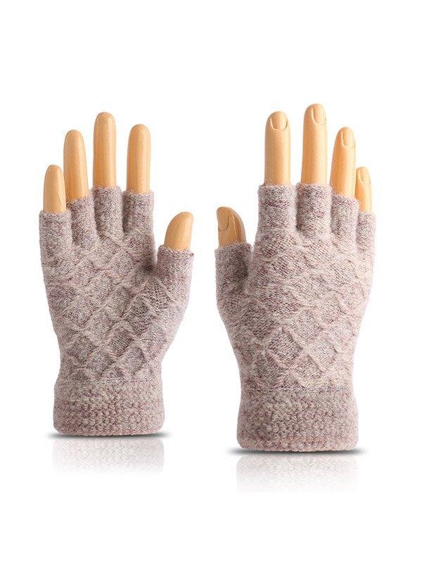 Guanti mezze dita lavorati a maglia -  ONE SIZE