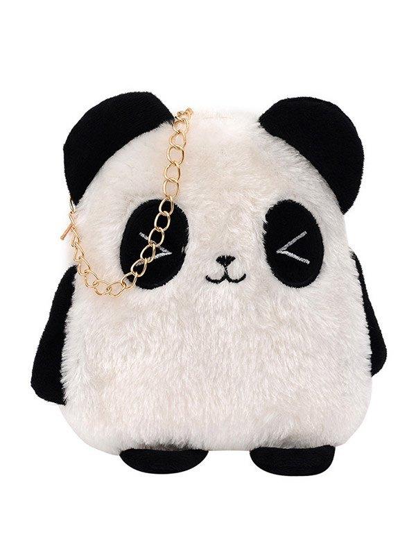 Borsa a tracolla con catena Fuzzy Panda - Come l\'immagine ONE SIZE