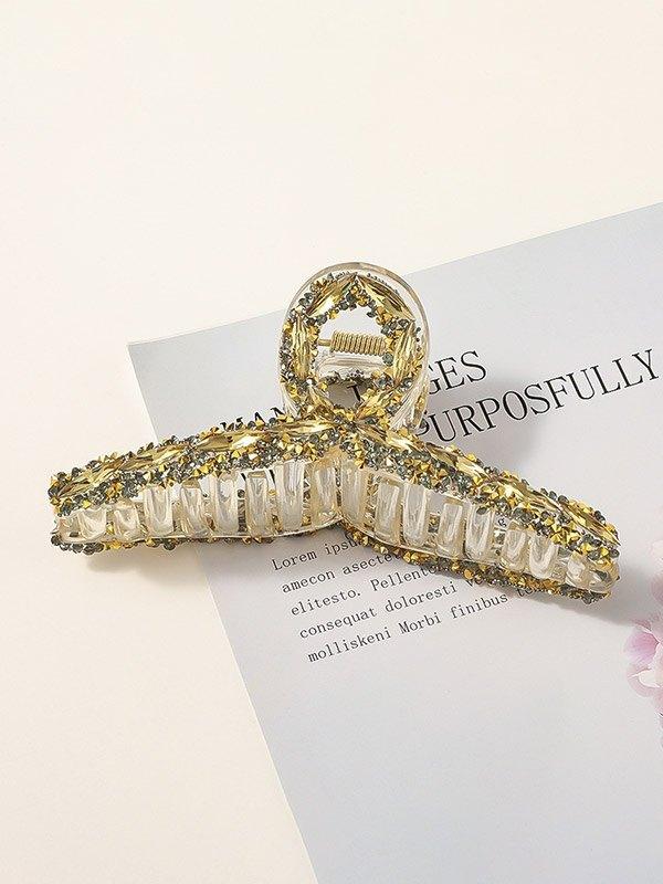 Artiglio per capelli con decoro diamante barocco - d\'oro ONE SIZE