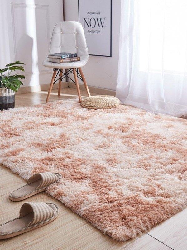 Tie-Dye Plush Rectangle Lounge Carpet - Khaki 80*160