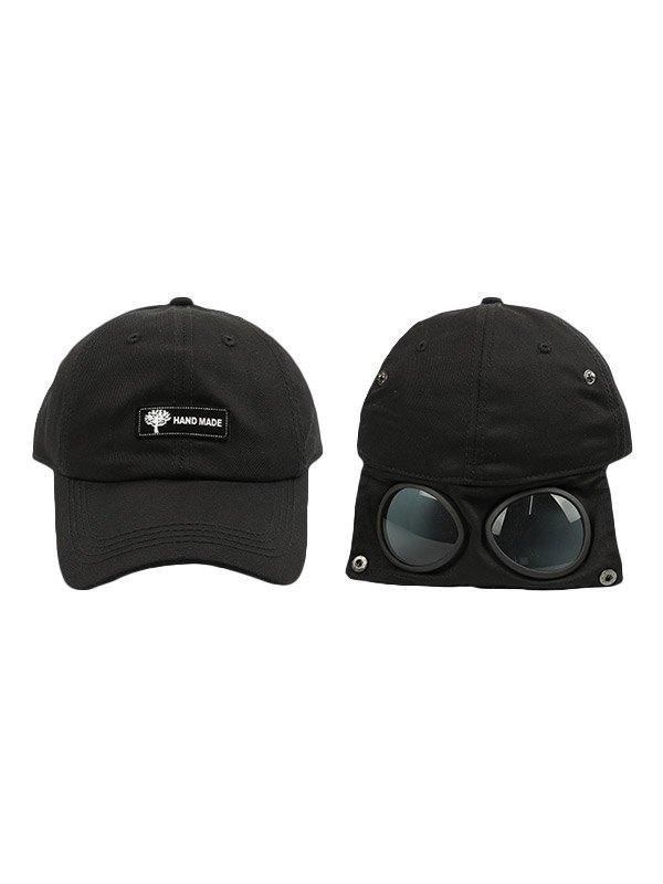 Cappello da baseball aviatore con logo applicato - Nero ONE SIZE