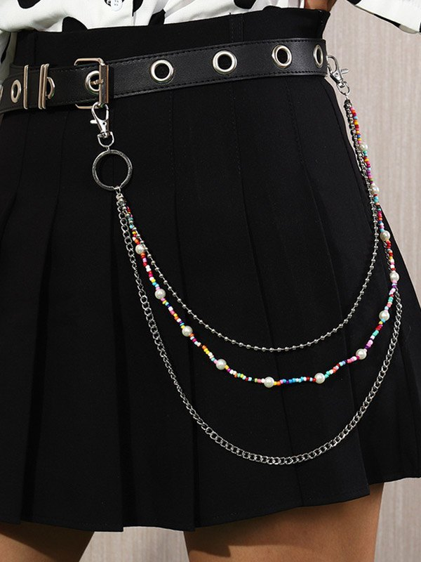 Beaded Decor Multi-Layered Pants Chain - As The Picture ONE SIZE