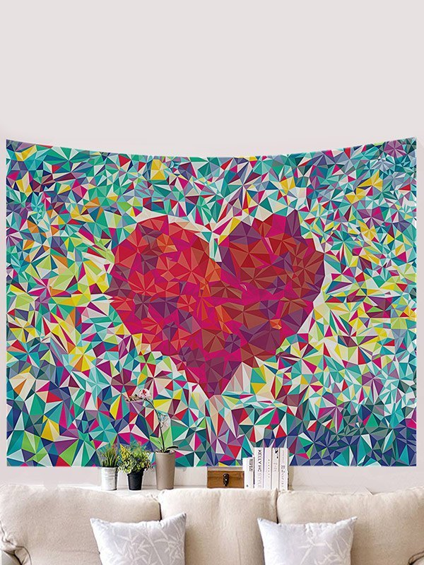 Pixel Heart Print Tapestry - As The Picture 150*130