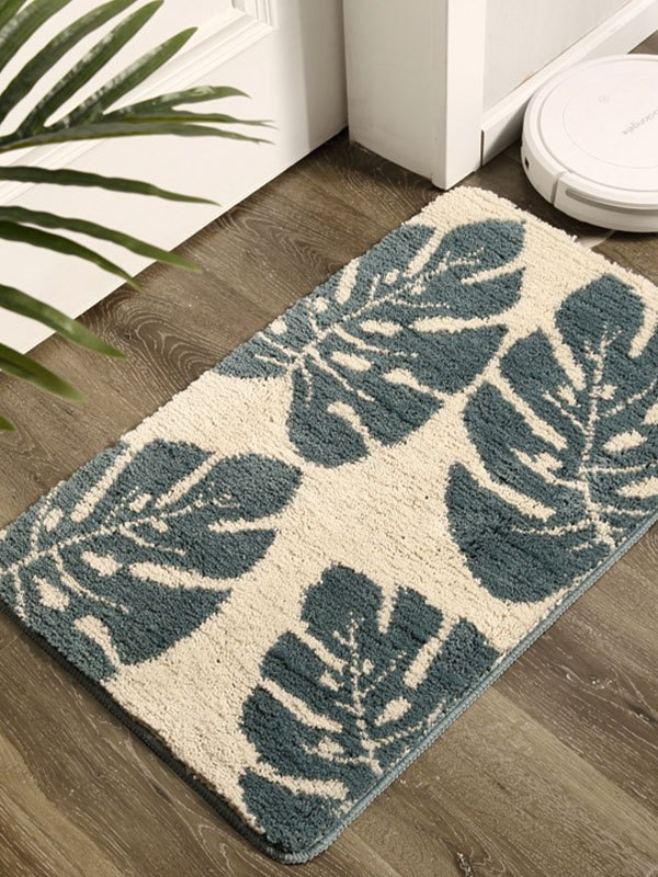 Palm Leaf Flocking Carpet - As The Picture 50*80