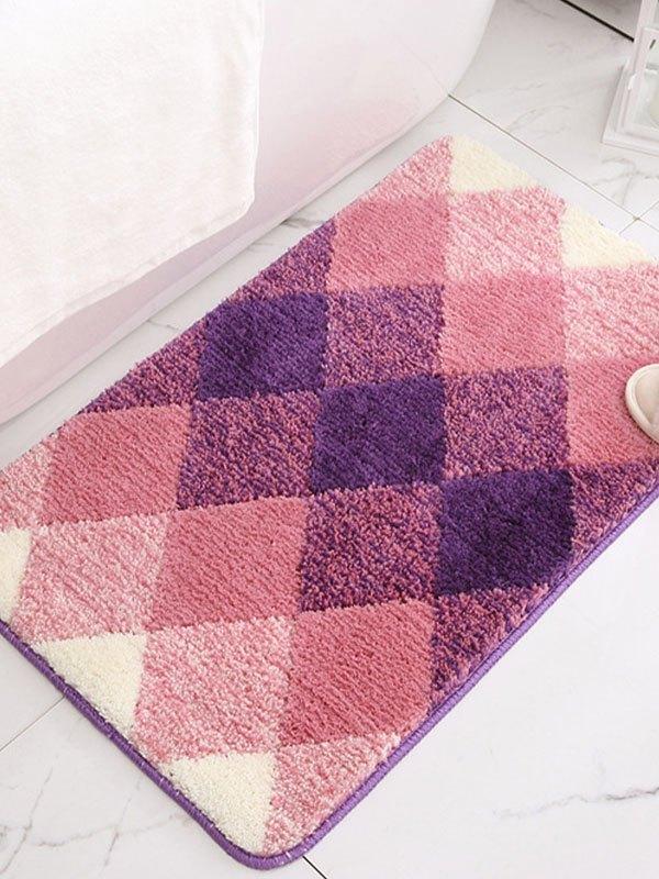 Ombre Geometric Print Flocking Carpet -  50*80