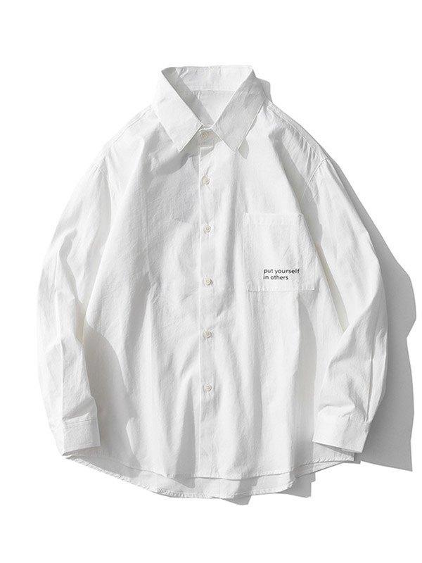 Chemise Mettez-vous dans les autres pour hommes - Blanc M