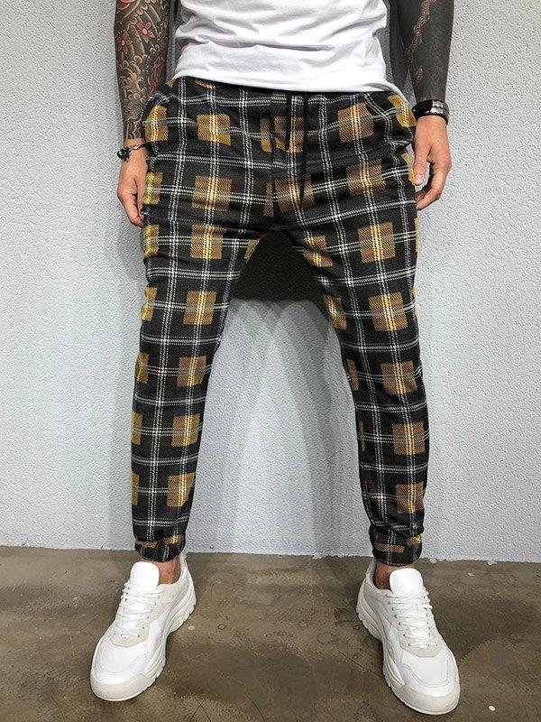 Pantaloni affusolati scozzesi da uomo - Verde 3XL
