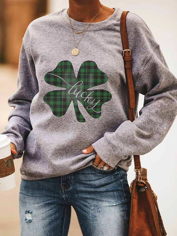 Saint Patrick Print Crew Sweatshirt -