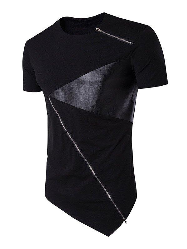 T-shirt zippé pour hommes -