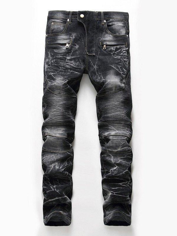 Men's Motor Straight Jeans - Black L
