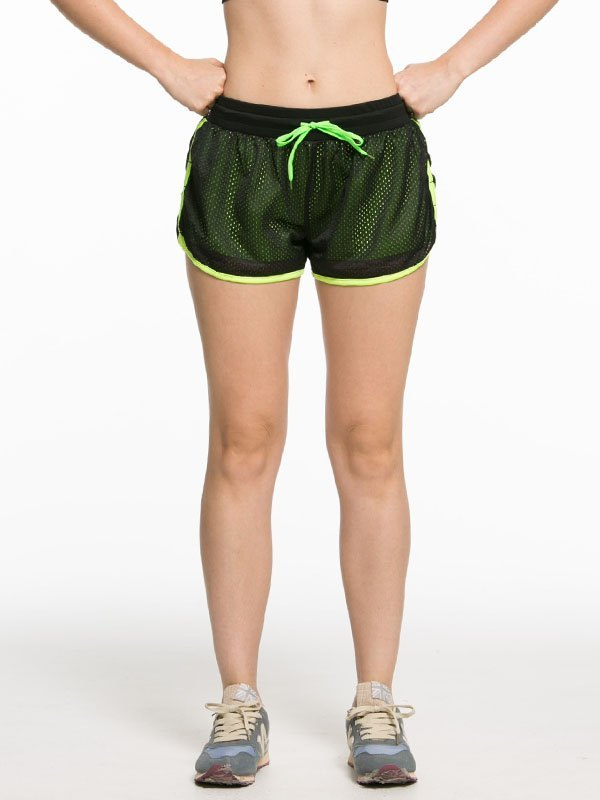 Lined Quick-Dry Active Shorts - Apple Green L