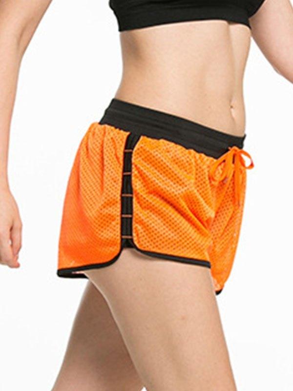 Lined Quick-Dry Active Shorts - Orange M