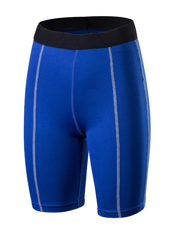 Quick-Dry Stretch Active Shorts - Blue S