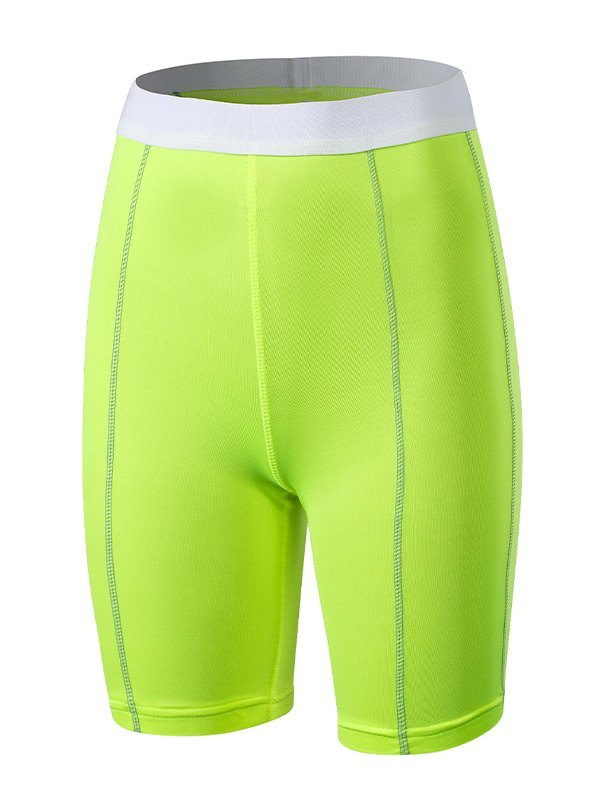Quick-Dry Stretch Active Shorts - Apple Green L