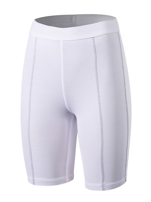 Quick-Dry Stretch Active Shorts - White L