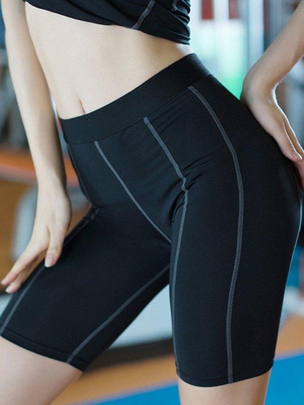 Quick-Dry Stretch Active Shorts - Black 2XL