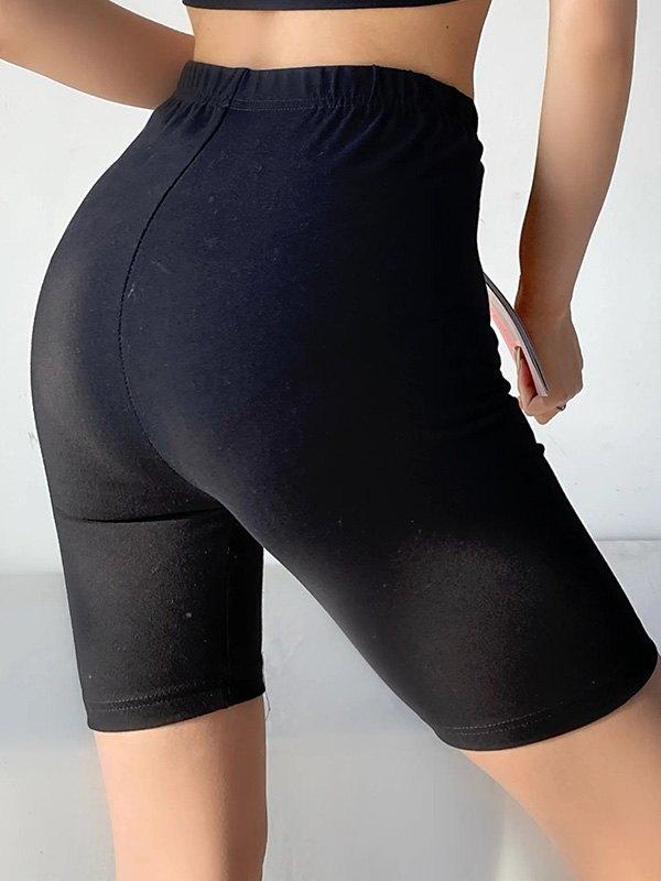Stretch Skinny Active Shorts - Black S