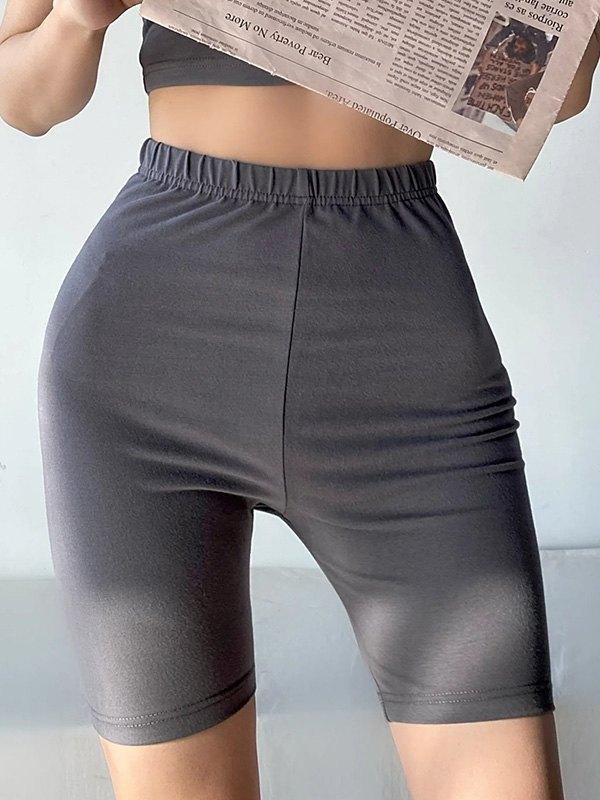 Stretch Skinny Active Shorts - Gray S