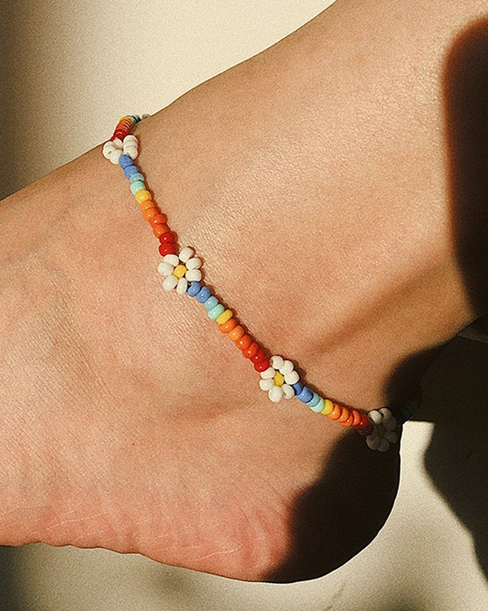 Vacation Daisy Anklet - Mixcolor ONE SIZE