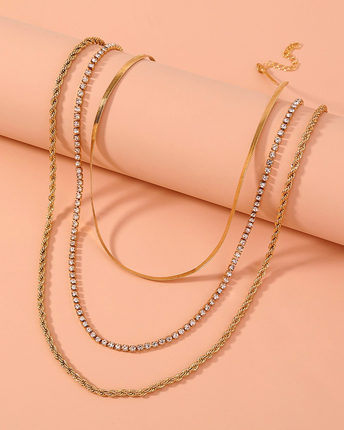 Zircon Necklace Sets - Golden ONE SIZE