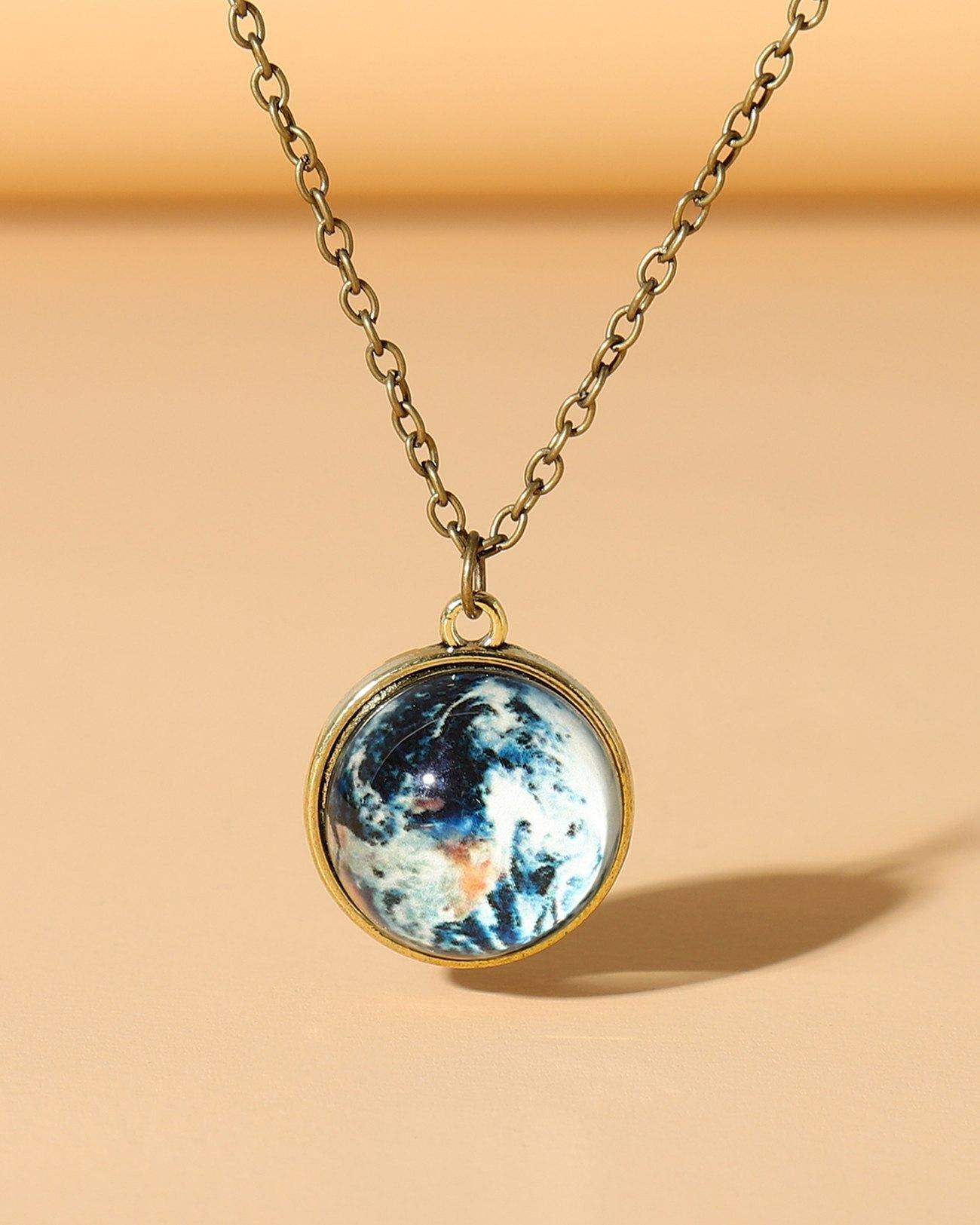 Beach Wind Luminous Ocean Drop Necklace - Blue ONE SIZE