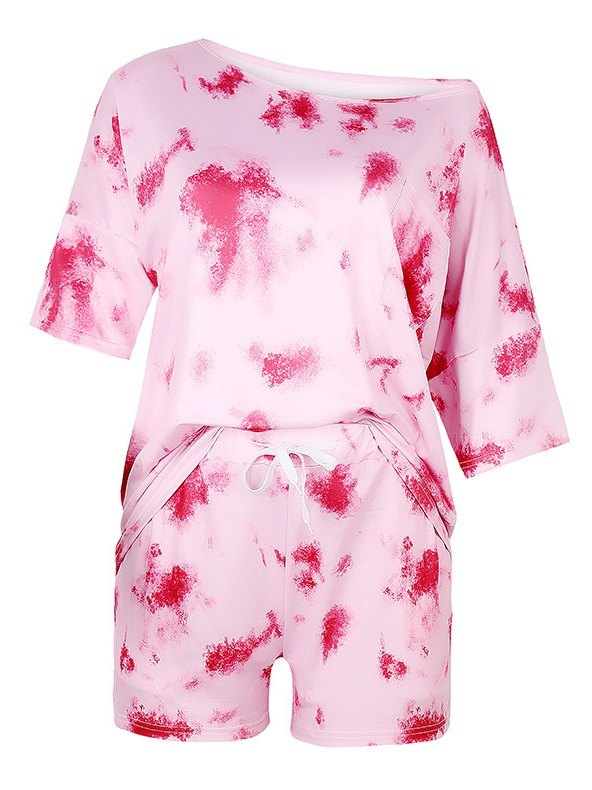 Tie Dye Two-Piece Outfits - Pink L
