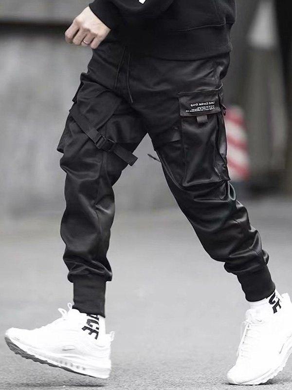 Men's Combat Cargo Pants - Black L