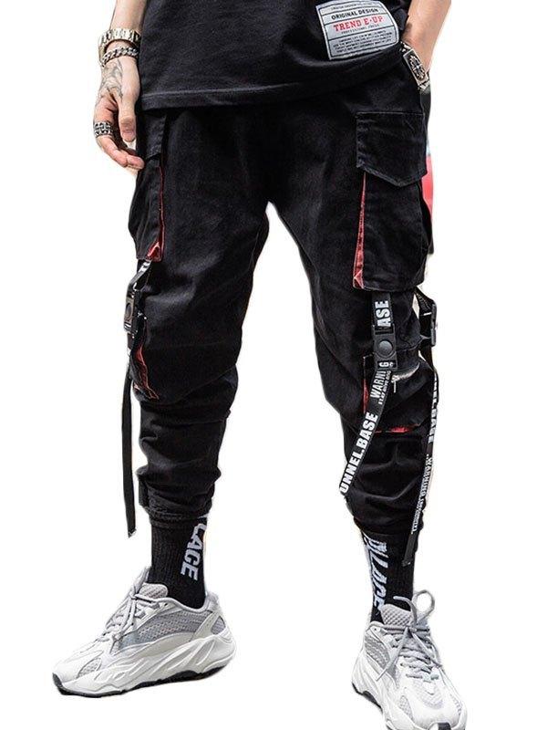 Men's Cropped Cargo Pants - Black S