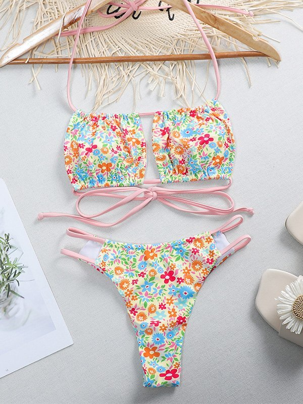 Bikini con strappy cutout - Rosa L
