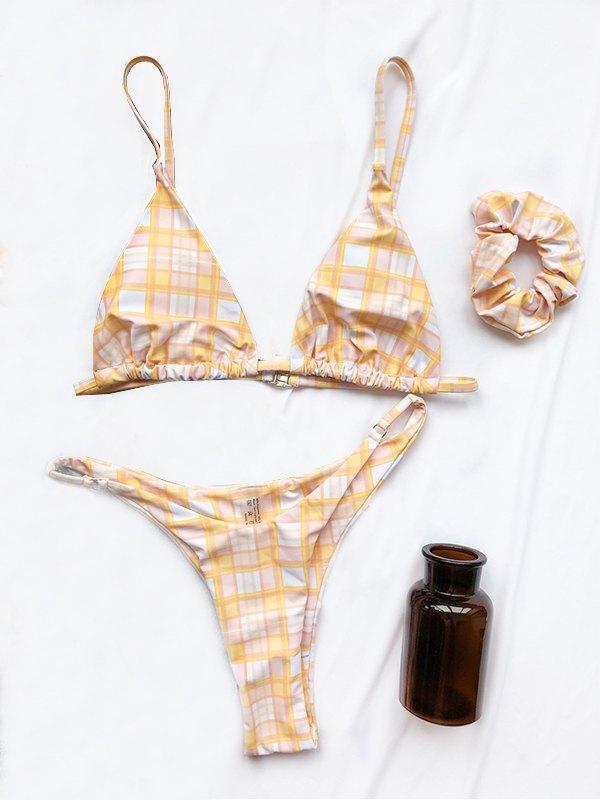 Bikini Triangolo Tartan - Giallo S