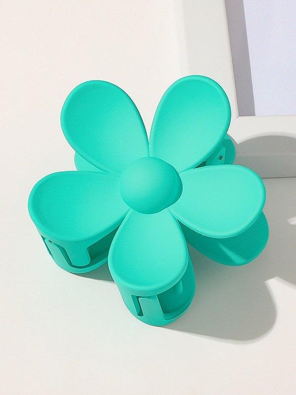 Artiglio dei capelli a forma di fiore - Blu ONE SIZE