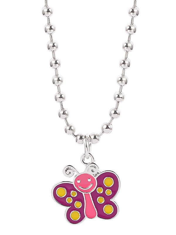 Fancy World Charm Necklace - Pink ONE SIZE
