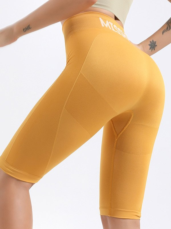 Quick-Dry Stretch Active Shorts - Yellow S