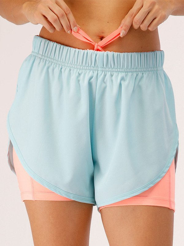 Quick Dry 2-In-1 Active Shorts - Pure Blue L