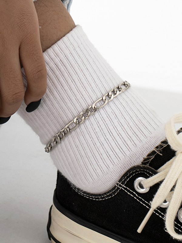 Casual Metal Anklet - Silver ONE SIZE
